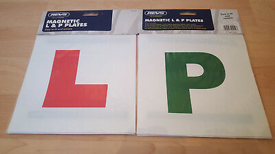 72 Packs X L & P Plates 2 Each Magnetic Learner Plates P Car Bike Learner Driver • 25.99£