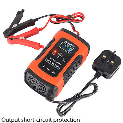 Smart Car Motorcycle Battery Charger 12V LCD Display Charger With UK Plug • 14.99£