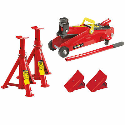 Supatool Trolley Jack And Axle Stand Set 2 Tonne • 39.95£