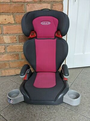 Graco Pink Junior Group 2/3 Booster Seat With Cup Holders & Removable Backrest • 15£