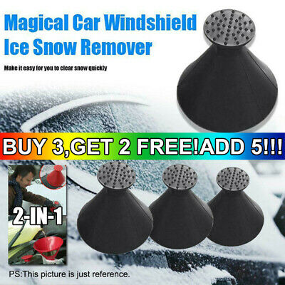1x Magical Car Windshield Ice Snow Remover Scraper Tool Cone Shaped Round Funnel • 2.29£