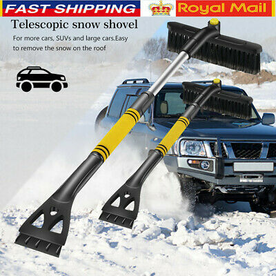 Telescopic Windshield Scraper Ice Snow Shovel Car Removal Brush Cleaning Kit • 11.45£