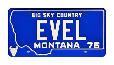 Celebrity Machines Evel Knievel | EVEL | Metal Stamped License Plate • 30.74£
