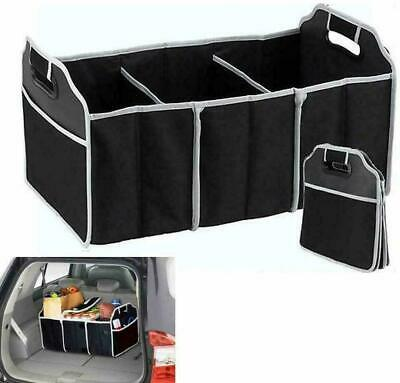 2-in-1 Car Boot Organiser Heavy Duty Collapsible Foldable Shopping Tidy Storage • 5.49£