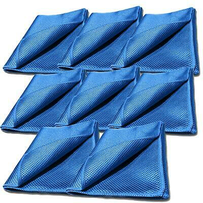 Glass Cloth Cleaner X 8 Fish Scale Microfibre Microfiber Mirror Vehicle Cleaning • 13.56£