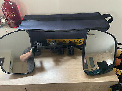 **pair Milenco Grand Aero Mk 3 Towing Mirrors, Flat Glass Complete With Case** • 54.95£