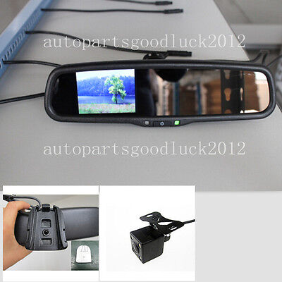 Car Rearview Mirror+3.5 Reversing Display,,fit Ford,Toyota,Nissan,include Camera • 90£