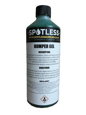 500ml Bumper Gel Back To Black Exterior Dressing For Car Plastic And Rubber Trim • 10.99£