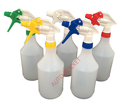 5 X Trigger Spray Bottles 750ml, Amazon Multi Colour Chemical Resistant Heads • 9.95£
