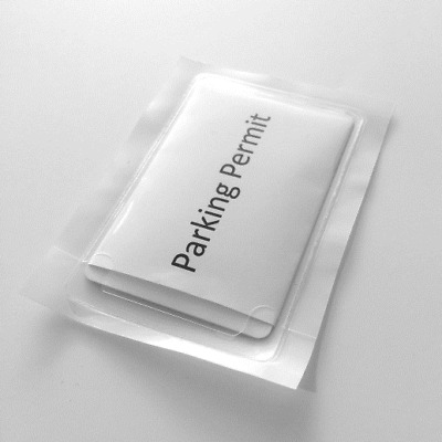Self Adhesive Clear Car Windscreen Holder Parking Permit 93x58mm Window Sticker  • 1.99£