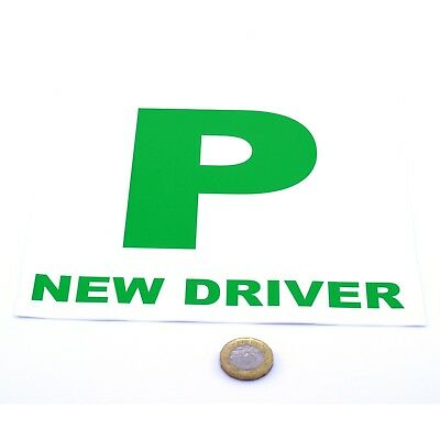 New Driver P Plate Stickers 2x Safety Car Learner Just Passed Vinyl Legal Signs • 1.61£