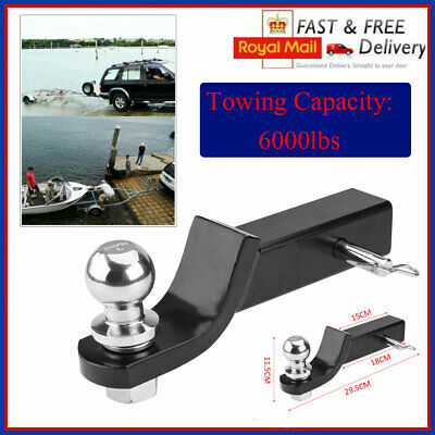 6000lbs 50mm Trailer Ball Mount Tongue Hitch Receiver For Towing Towbar Truck • 13.69£