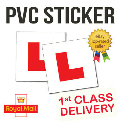 2 X LEARNER STICKER L Plate Stickers Legal Learner Driver Sticker Self Adhesive • 1.75£
