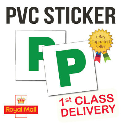 2x New Driver P Plate Stickers Safety Car Learner Just Passed Vinyl Signs • 1.75£