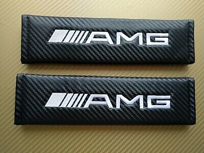 AMG Mercedes Benz AMG Seat Belt Cover Pads X2 Carbon • 8.99£
