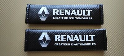 Renault Seat Belt Pads Covers Shoulder Safety Cushion X2 New Printed UK Stock • 9.99£