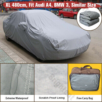 2 Layer Waterproof Car Cover Fits Audi A4 Heavy Duty Cotton Lined WCC2P • 26.99£