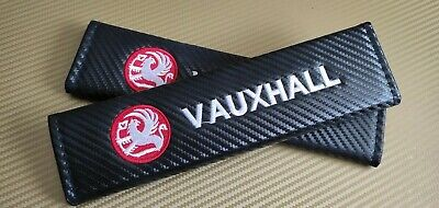 Vauxhall Astra GTC Corsa Insignia VXR Zafira Seat Belt Cover Pads X2 Carbon Red • 9.99£