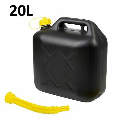 New Large 20l Litre Jerry Can Petrol Diesel Fuel Storage Container Nozzle Black • 9.95£