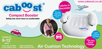 Caboost ~ Compact ~  Inflatable Child Travel Car Booster Seat Suit Age 6 To 12 • 20£