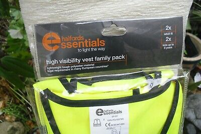 Halfords Family Pack 4 High Visibility Vests • 5.99£
