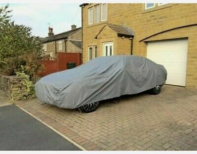 Waterproof Car Cover 2 Layer Heavy Duty Cotton Lined UV Protection - Size Large • 35.90£