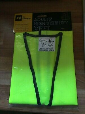 AA Car Essentials Adults High Visibility Vest XL With Reflective Waist Band NEW • 2£