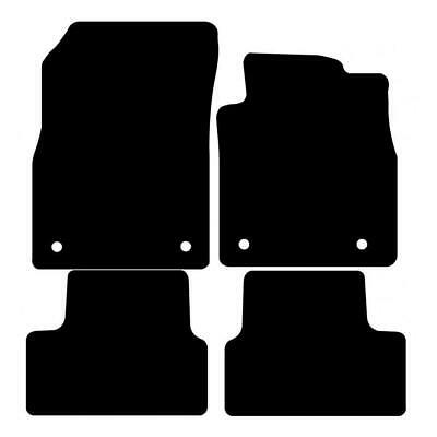 Tailored Black Car Floor Mats Carpets 4pc Set For Vauxhall Astra J MK6 10 To 15 • 11.79£