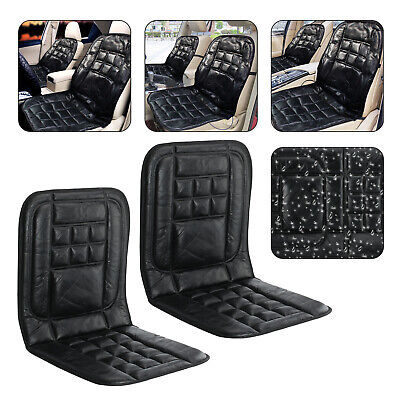 2X Universal Car Seat Covers Protect Back Support Orthopaedic Leather Cushion • 10.99£