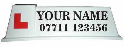 Driving School Roof Sign Graphics, Stickers For Car Roof Sign - K01 • 17.40£