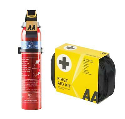 AA First Aid Kit & 600g Fire Extinguisher Ideal Cars Home Office Taxi Caravan • 17.99£