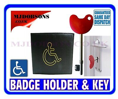 Disabled Toilet Key And Badge Holder Wallet -Parking Disability Wallet • 4.95£