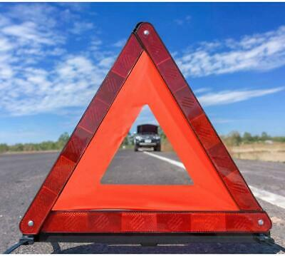 2x Reflective Warning Sign Fordable Triangle Car Hazard Breakdown Emergency • 6.99£