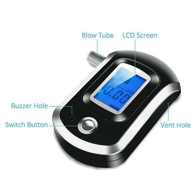 New Professional LCD Digital Breath-Alcohol Tester Breathalyser Police UK Seller • 10.79£