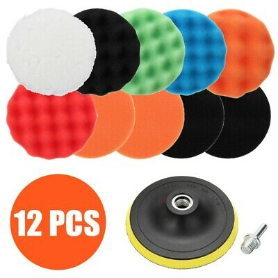 12 Pack 6 Inch Car Care Detailing Polishing Buffing Pad For Car Polisher Sander • 10.59£