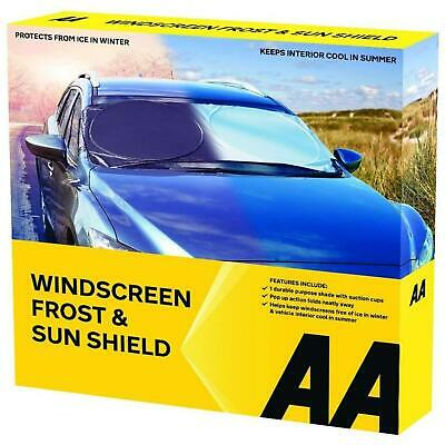 AA Car Windscreen Snow Frost Protector Shield Cover Ice Snow Anti-frost • 7.99£