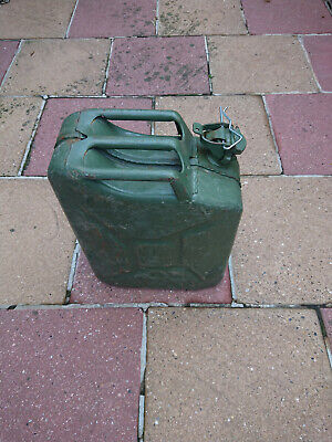 Steel Jerry Can Olive Green 20L • 10£