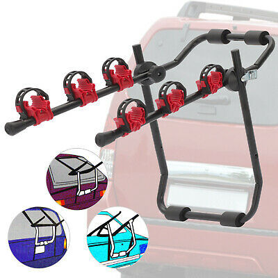 3 Bicycle Bike Car Cycle Carrier Rack Universal Fitting Saloon Hatchback Estate • 23.89£