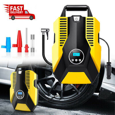 Portable Electric Car Air Compressor Pump Digital Tyre Inflator Led Light 150psi • 21.29£