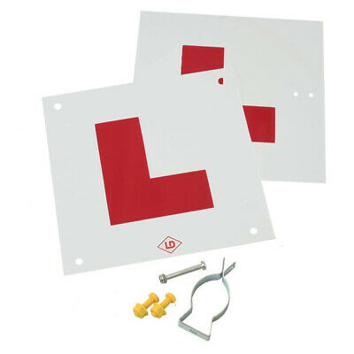 Motorcycle L Plate Kit Complete With Fixings And Bracket / Made In UK  • 7.99£