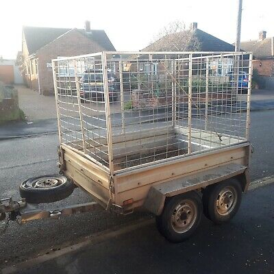 Trailer With High Mesh Sides 6x4 Twin Axel Cage Box • 750£