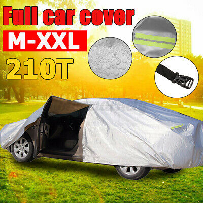 Heavy Duty M Full Car Cover Cotton Waterproof Breathable Protect Indoor Outdoor • 16.95£
