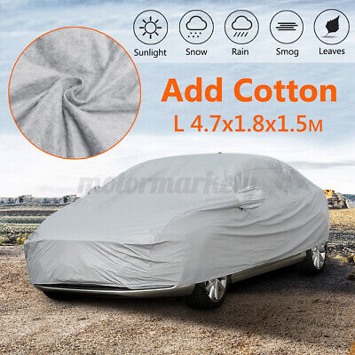 L Large Heavy Duty Full Car Cotton Cover Breathable UV Protection Waterproof UK • 19.95£