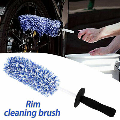 Car Wheel Cleaning Brush Tool Tire Washing Clean Alloy Soft Bristle Cleaner UK • 9.99£