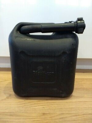 10 Litre Black Plastic Diesel Can With Pouring Hose • 2.99£