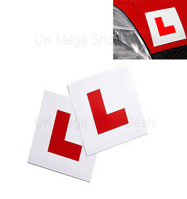 Genuin 2 X L Plate Fully Magnetic Exterior Car New Learner - Secure & Safe • 1.89£