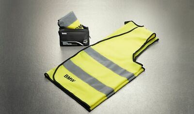 BMW Genuine Reflective Safety High Visibility Vest Yellow 2 Pc Set 82262288693 • 13.91£