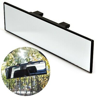 UNIVERSAL WIDE ANGLE REAR VIEW INTERIOR MIRROR Clip On Learner Instructor Driver • 9.21£