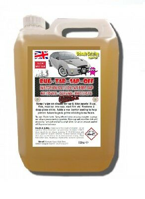 5 L Car Bike BUG-TAR-SAP-OFF Dead Squashed Fly Flies Remover Cleans Protects 5L • 14.99£