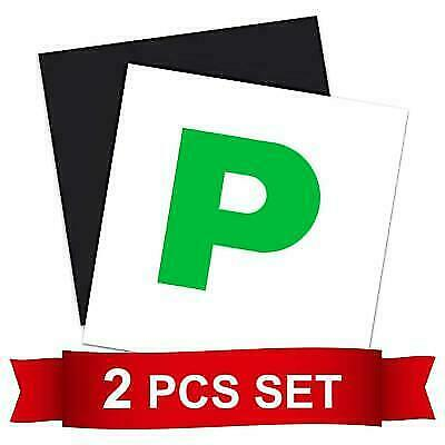 Fully Magnetic Passed Pass Green P Driver Plate Plates For Car Vehicle X 2 - UK • 2.49£